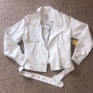 """White """"leather"""" jacket 